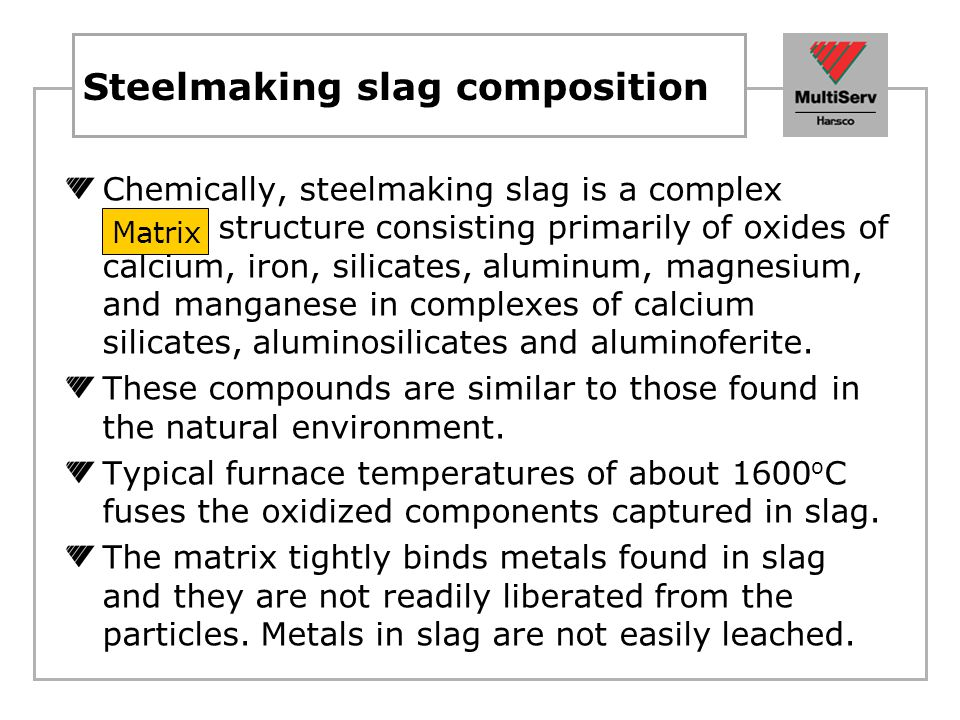 Steelmaking slag composition