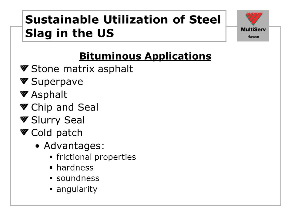 Sustainable Utilization of Steel Slag in the US