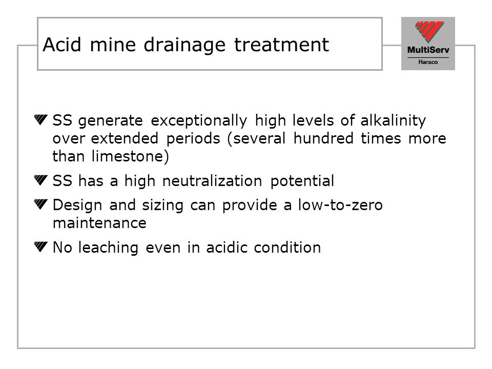 Acid mine drainage treatment