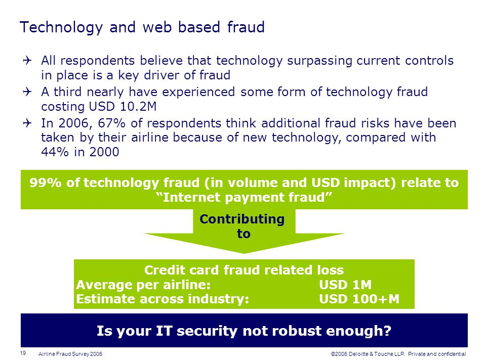 Technology and web based fraud