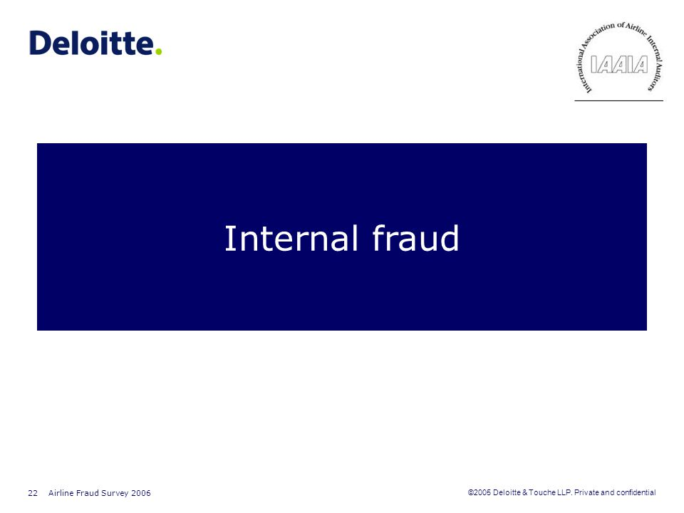 Internal fraud