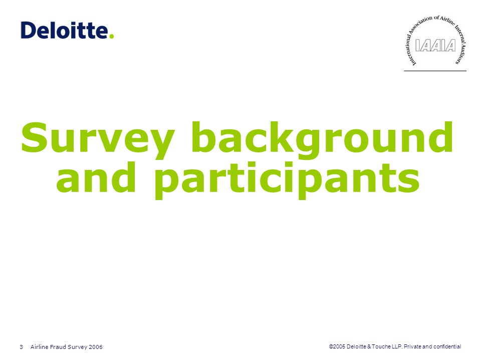 Survey background and participants