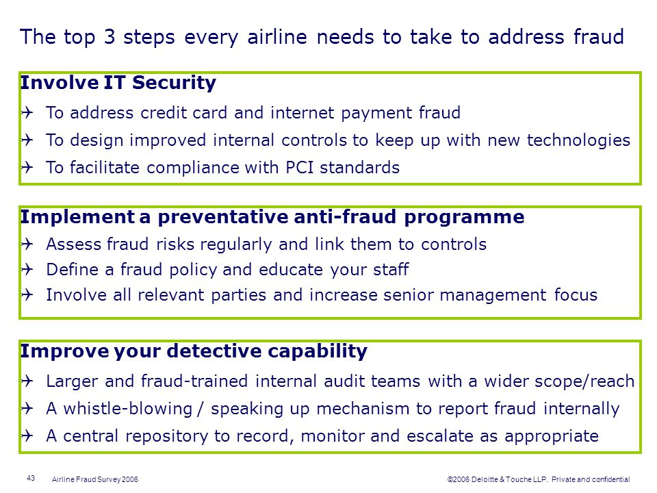 The top 3 steps every airline needs to take to address fraud