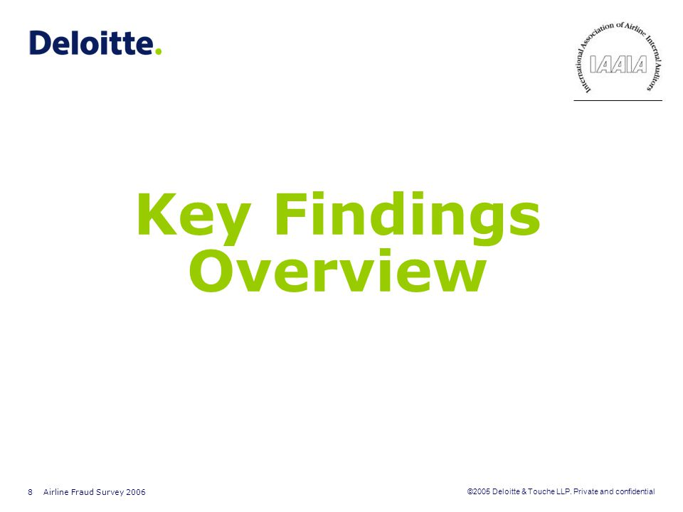 Key Findings Overview