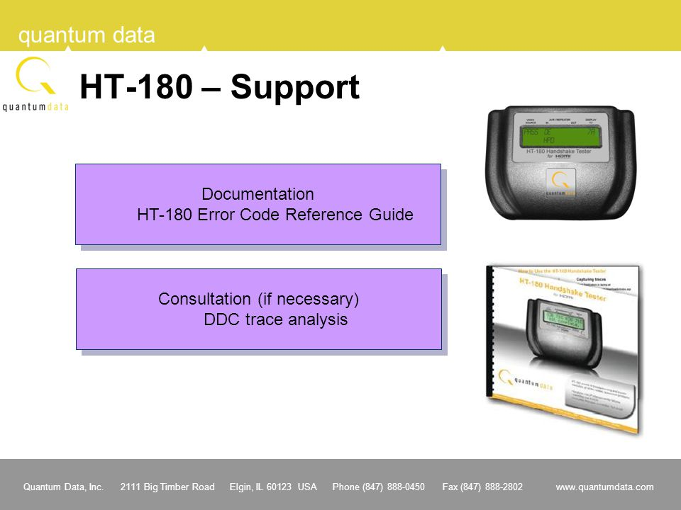 HT-180 – Support Documentation HT-180 Error Code Reference Guide