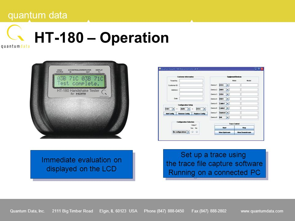 HT-180 – Operation Set up a trace using Immediate evaluation on