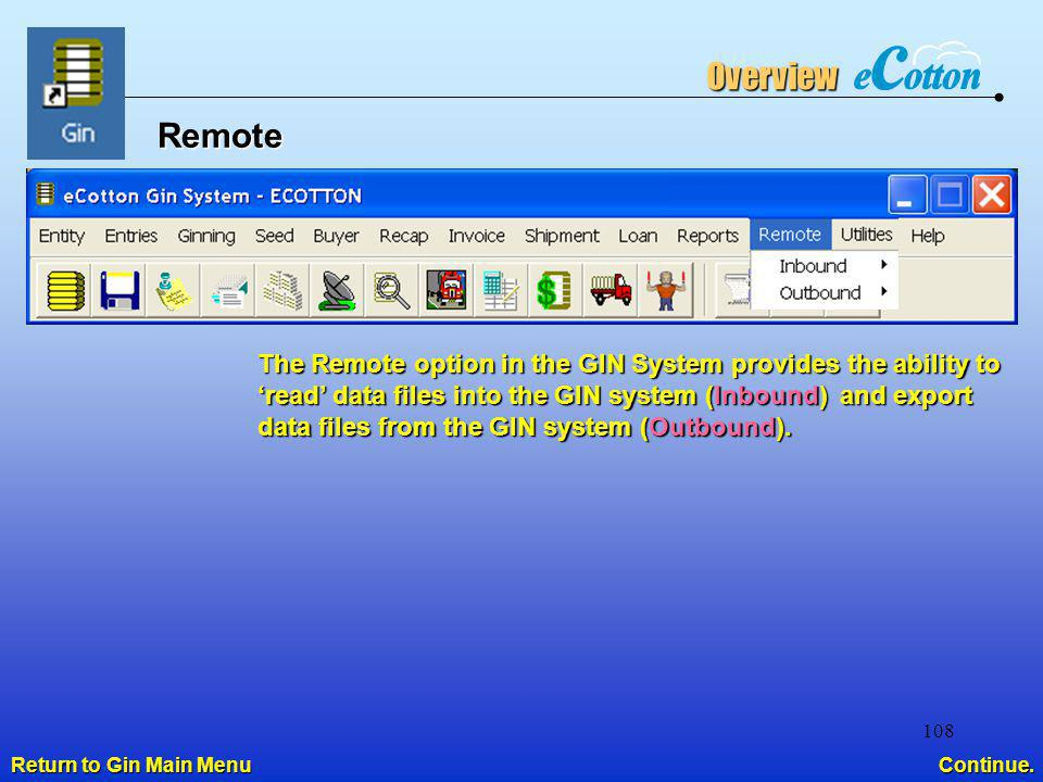 Overview Remote.