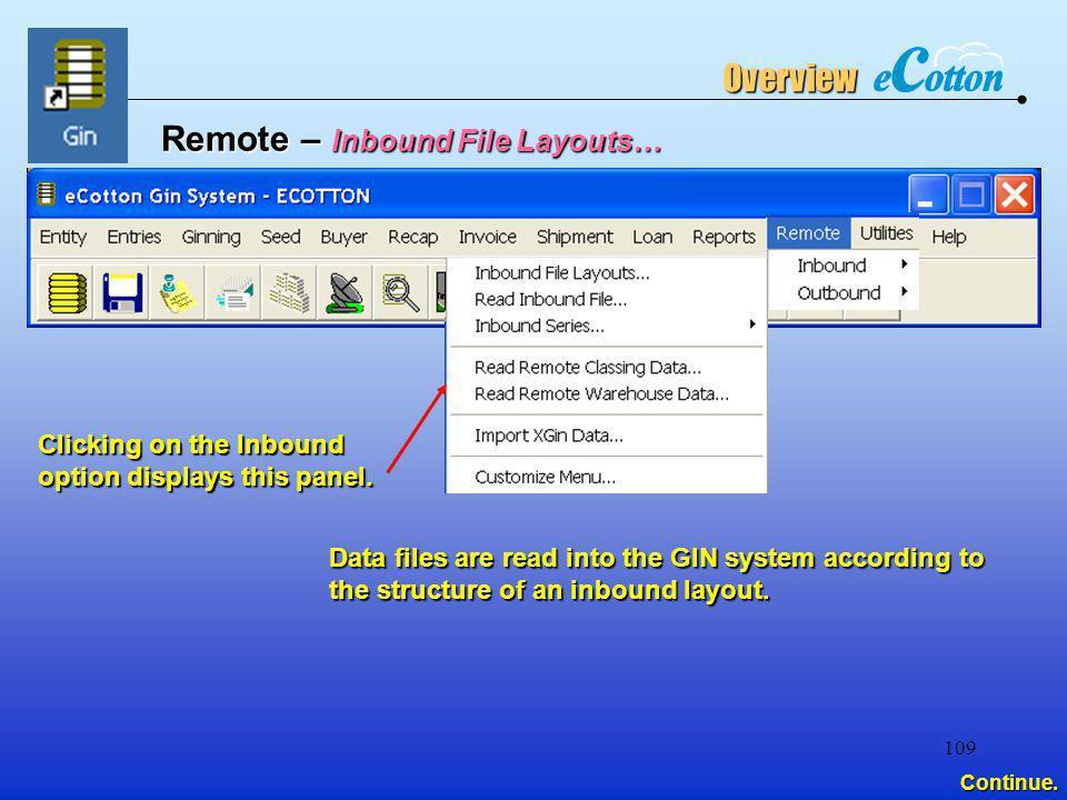 Remote – Inbound File Layouts…