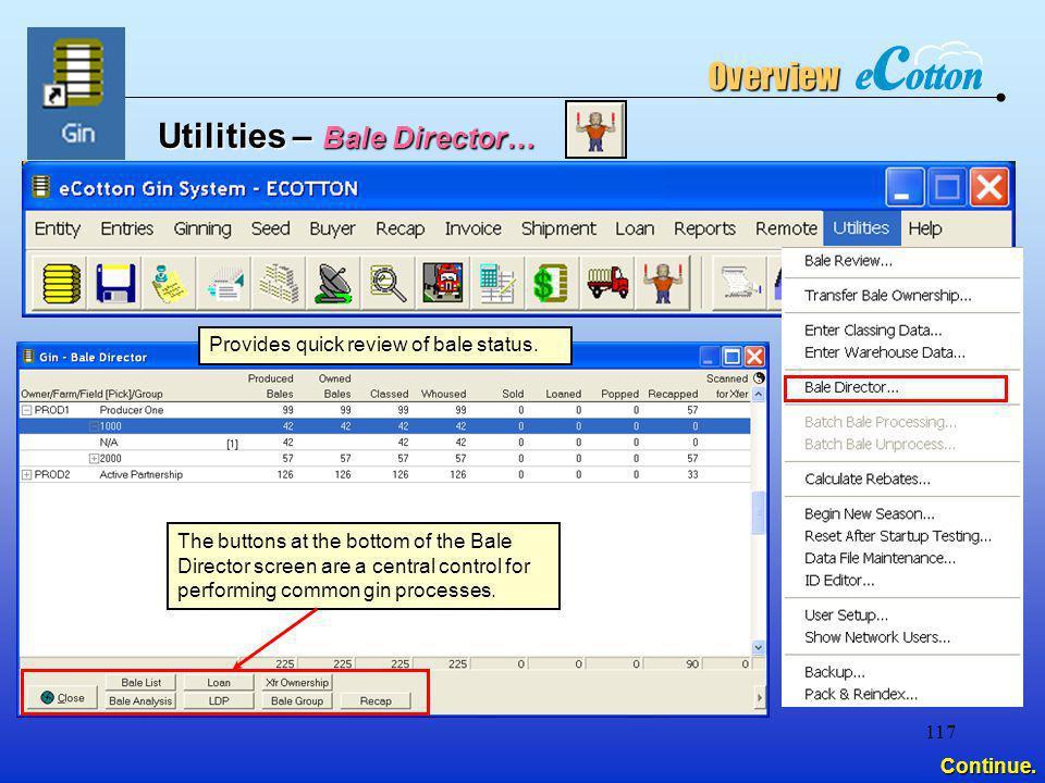 Utilities – Bale Director…