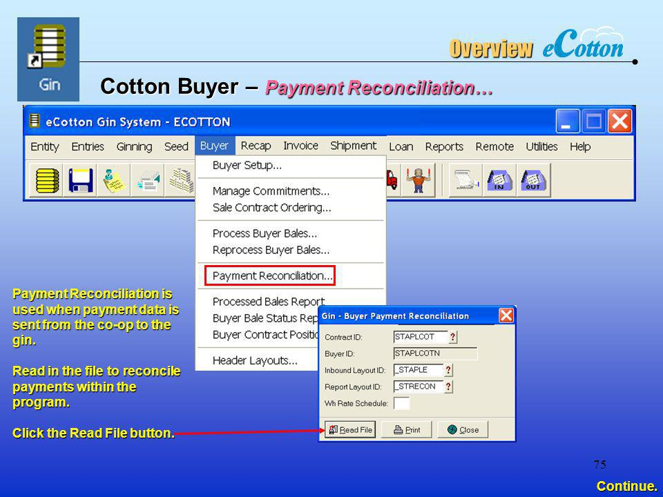 Cotton Buyer – Payment Reconciliation…