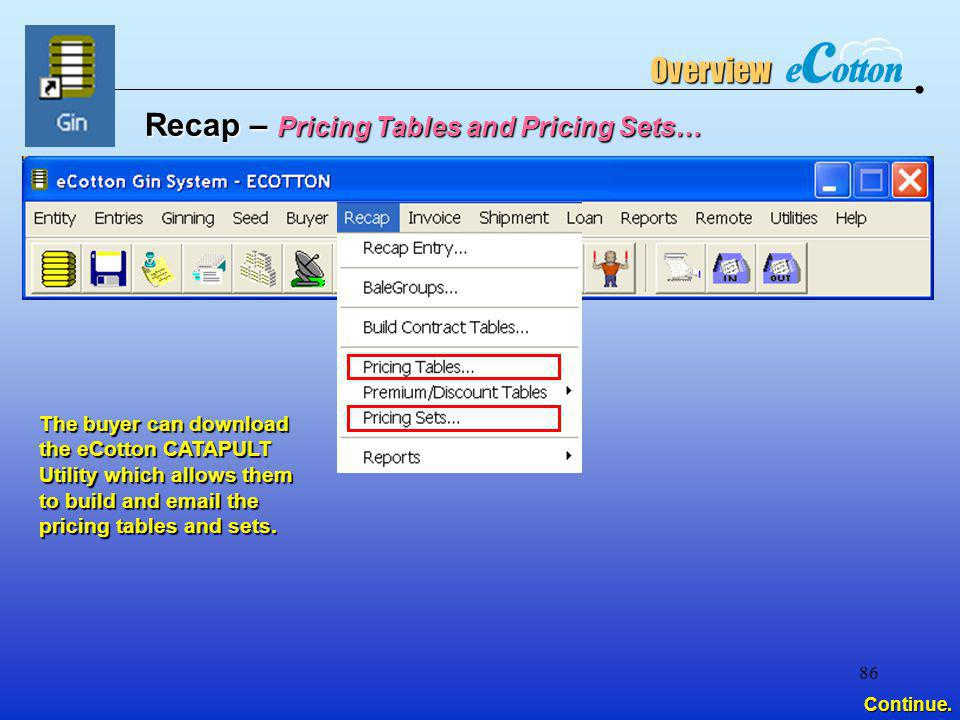 Recap – Pricing Tables and Pricing Sets…