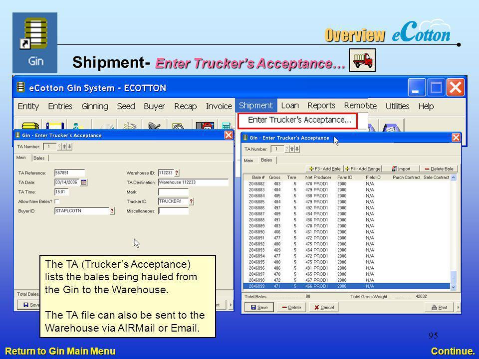 Shipment- Enter Trucker's Acceptance…