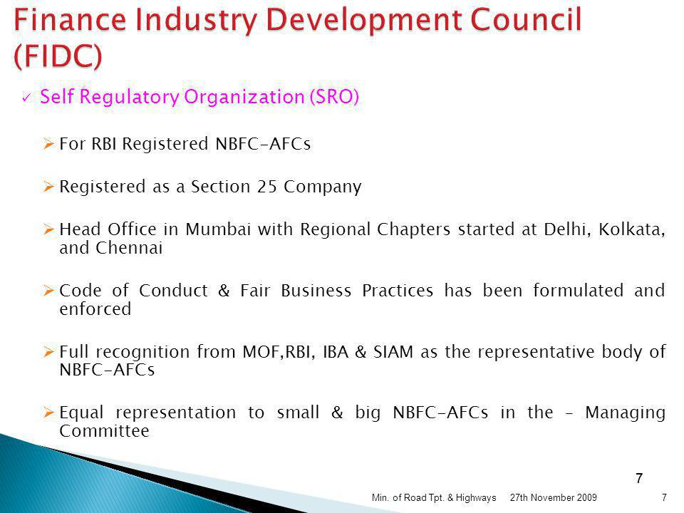 Finance Industry Development Council (FIDC)