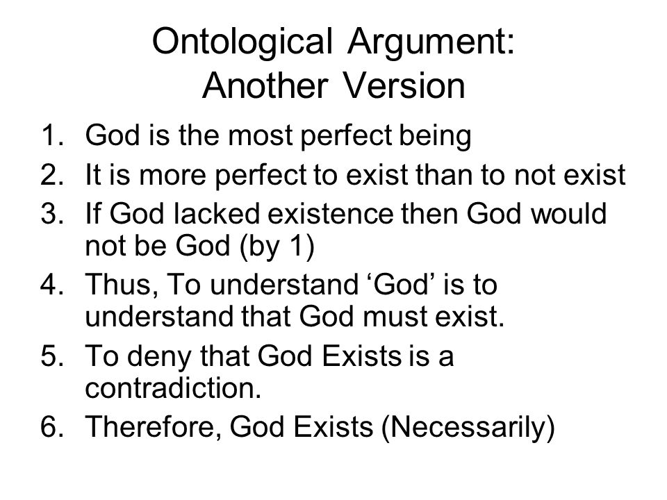 The Ontological Argument: Gods existence in the mind and reality