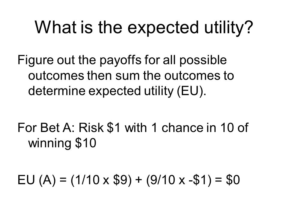 What is the expected utility