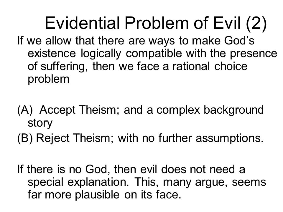 Evidential Problem of Evil (2)