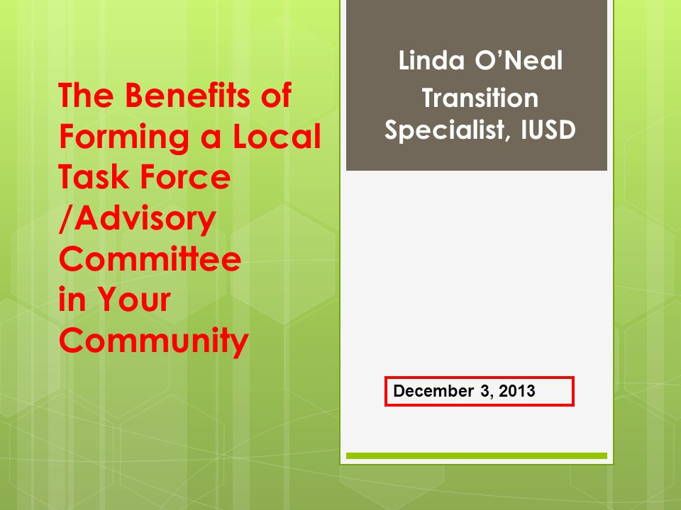 Linda O'Neal Transition Specialist, IUSD