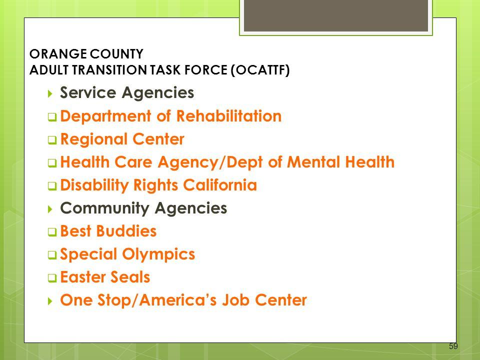ORANGE COUNTY ADULT TRANSITION TASK FORCE (OCATTF)