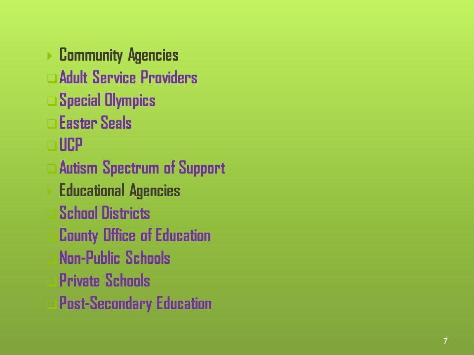 Orange County Adult Transition Task Force…continued