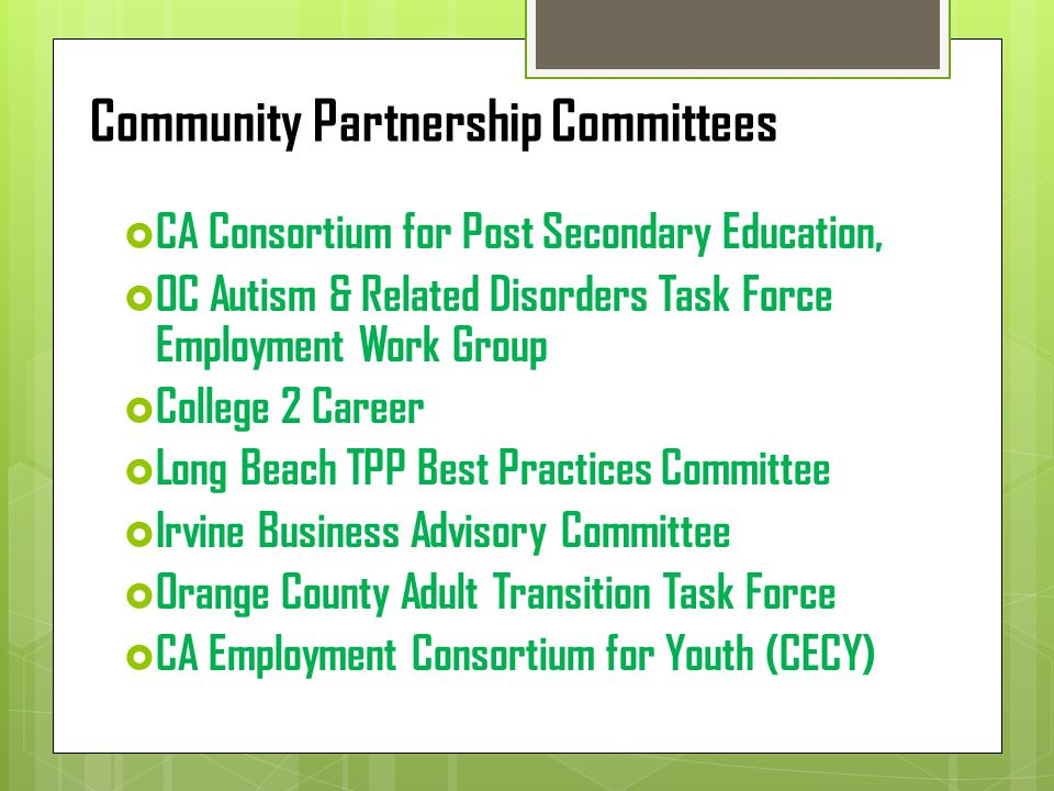 Community Partnership Committees