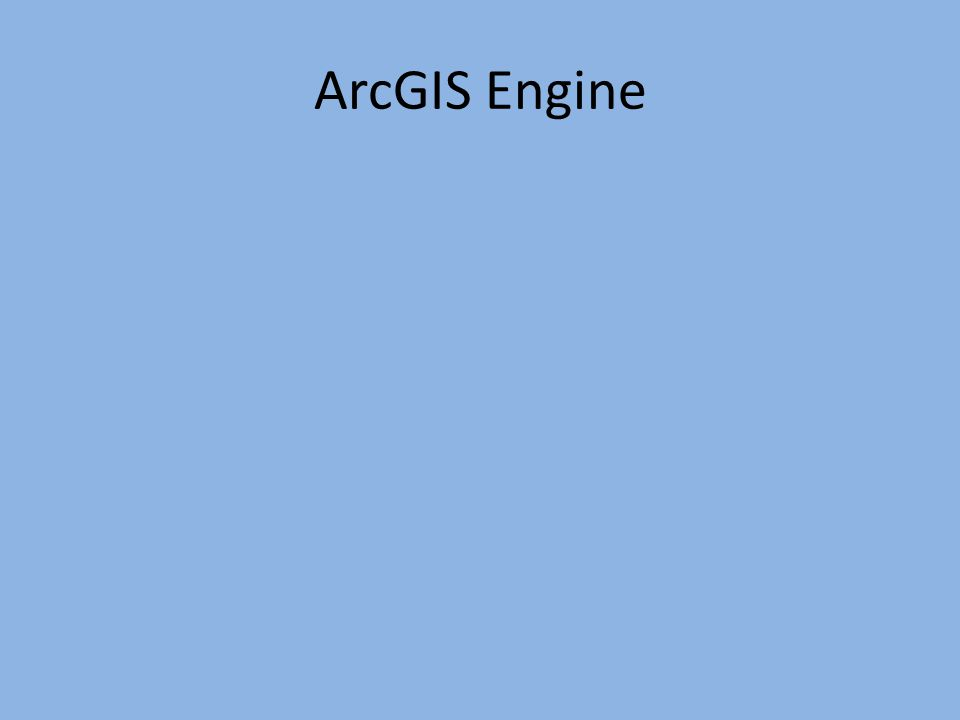 ArcGIS Engine