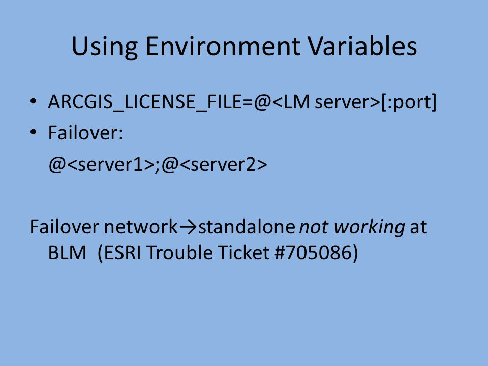 Using Environment Variables