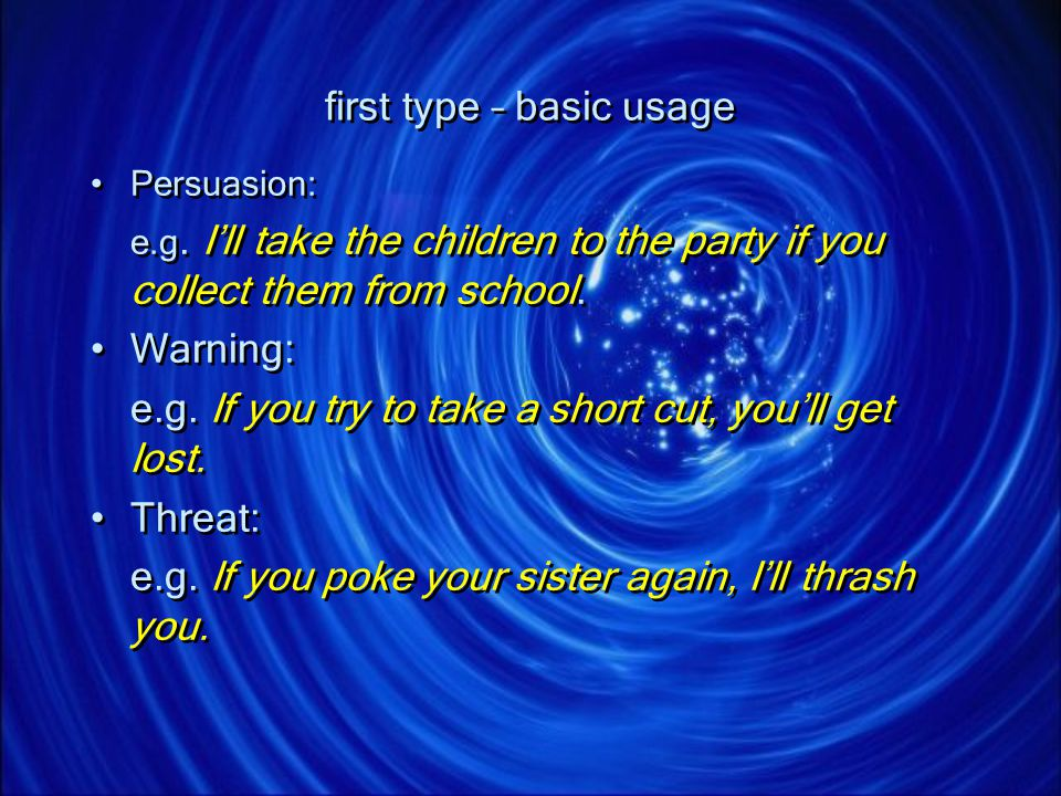 first type – basic usage