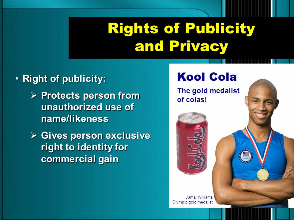 Rights of Publicity and Privacy