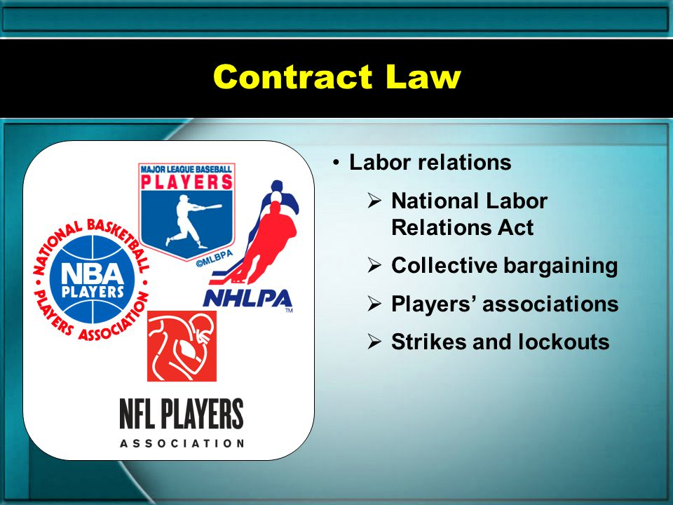 Contract Law Labor relations National Labor Relations Act
