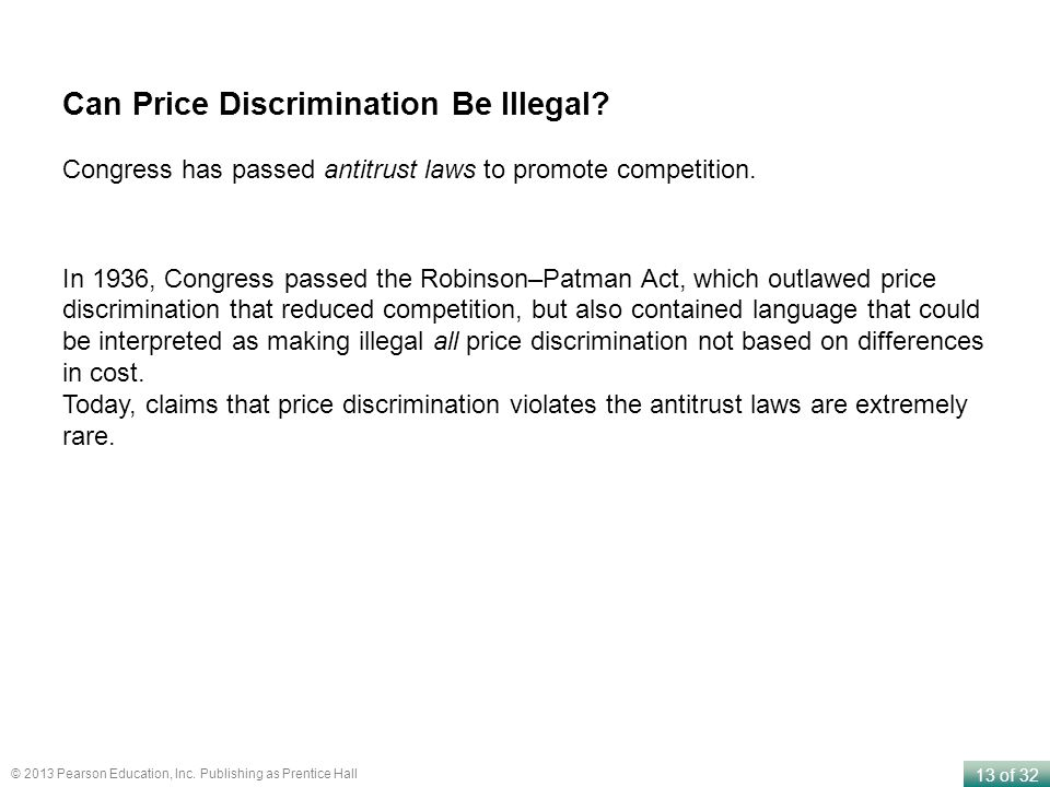 Can Price Discrimination Be Illegal
