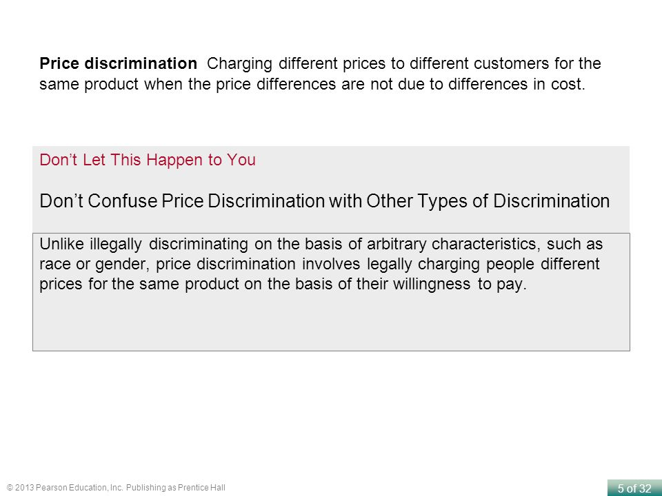 Don't Confuse Price Discrimination with Other Types of Discrimination