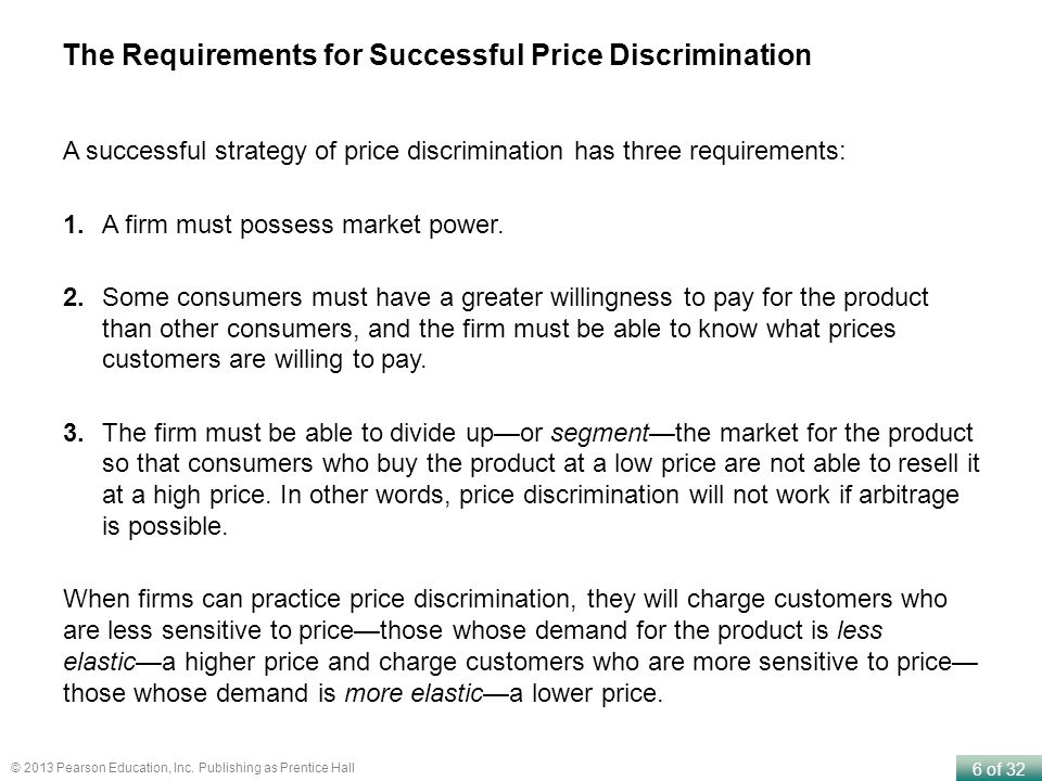 The Requirements for Successful Price Discrimination