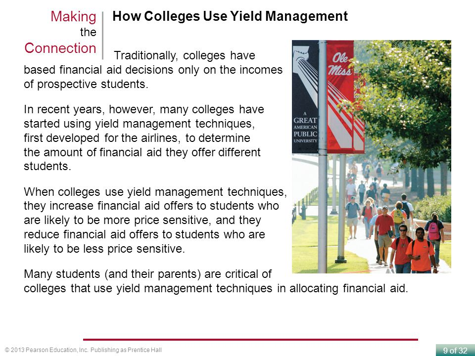 Making the Connection How Colleges Use Yield Management