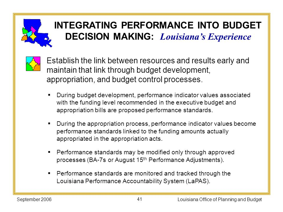 Louisiana Office of Planning and Budget