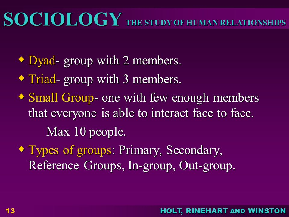 Dyad- group with 2 members.