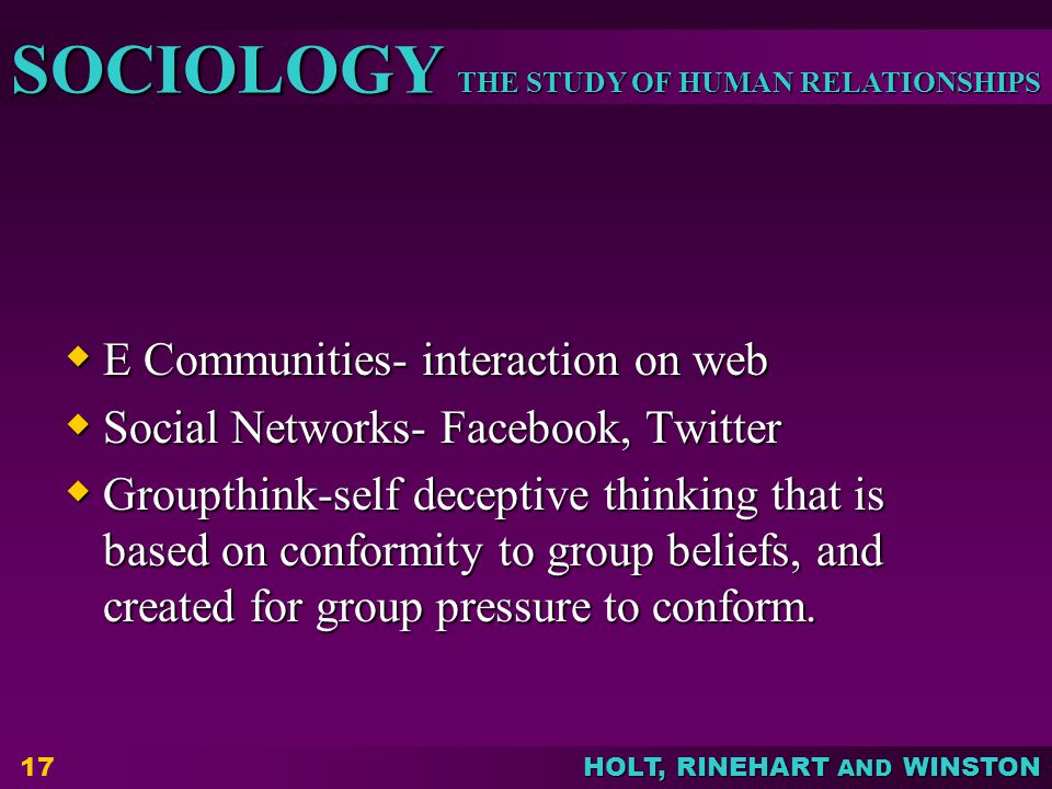 E Communities- interaction on web