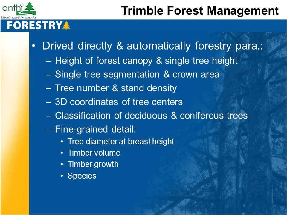 Trimble Forest Management