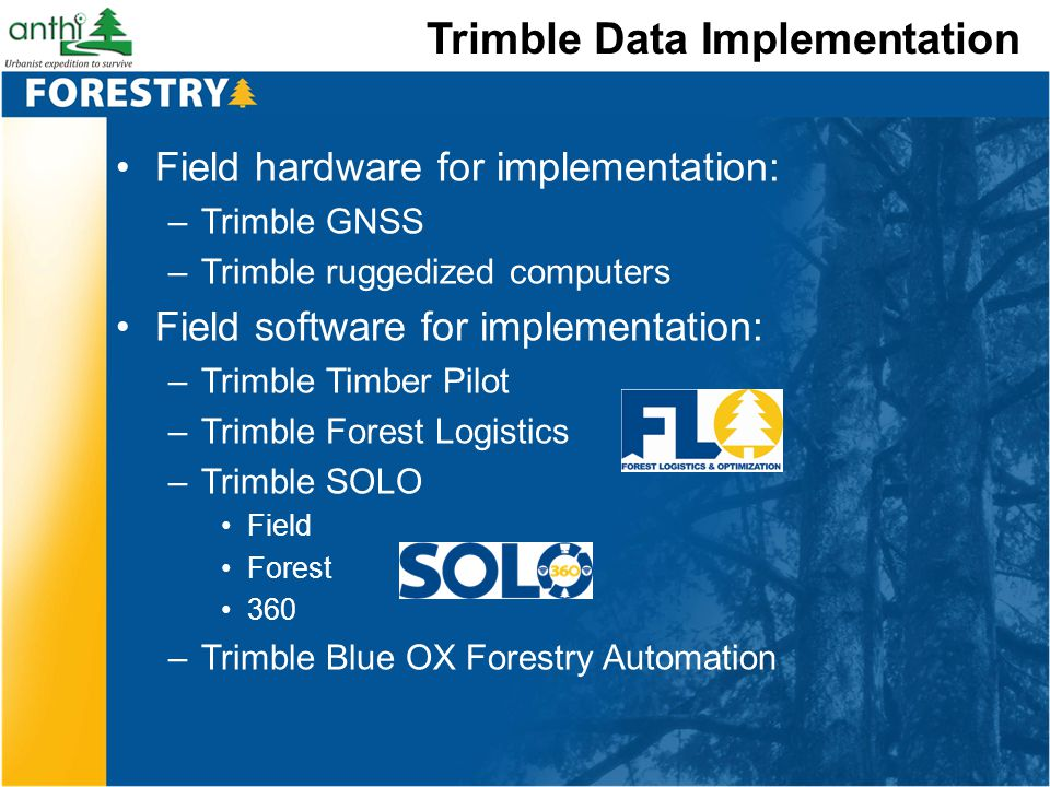 Trimble Data Implementation