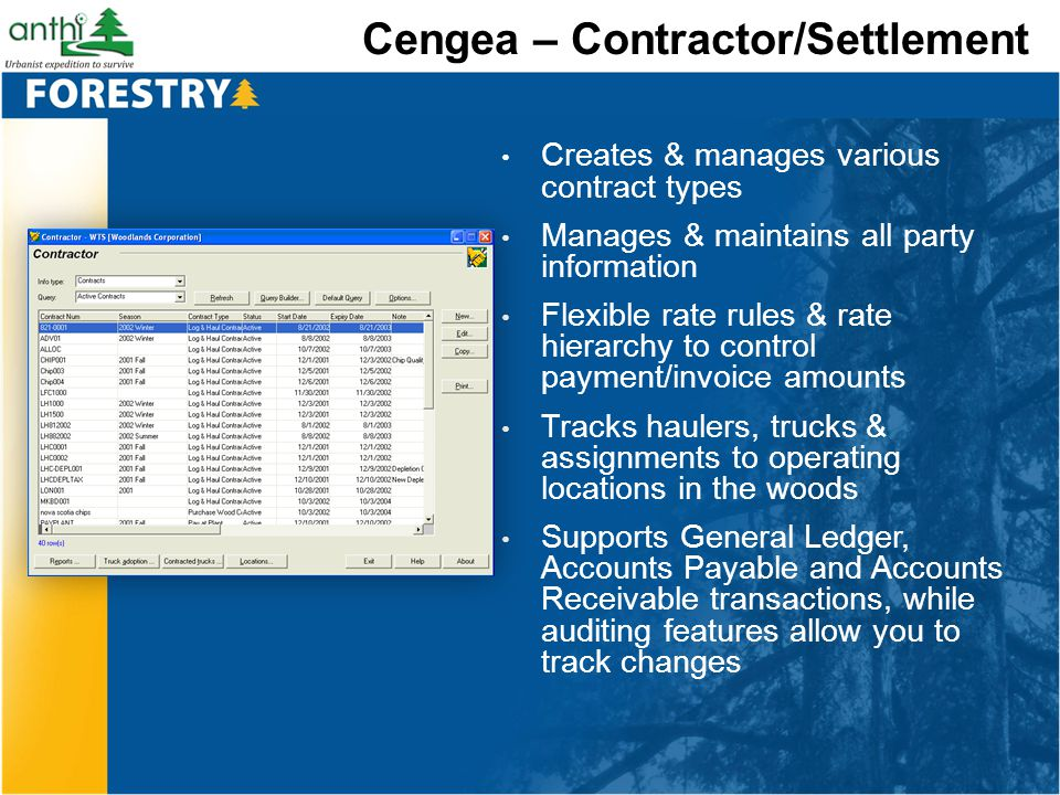 Cengea – Contractor/Settlement