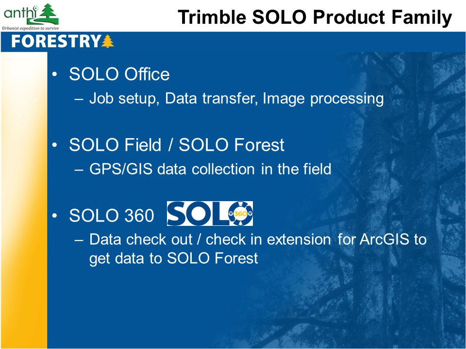 Trimble SOLO Product Family