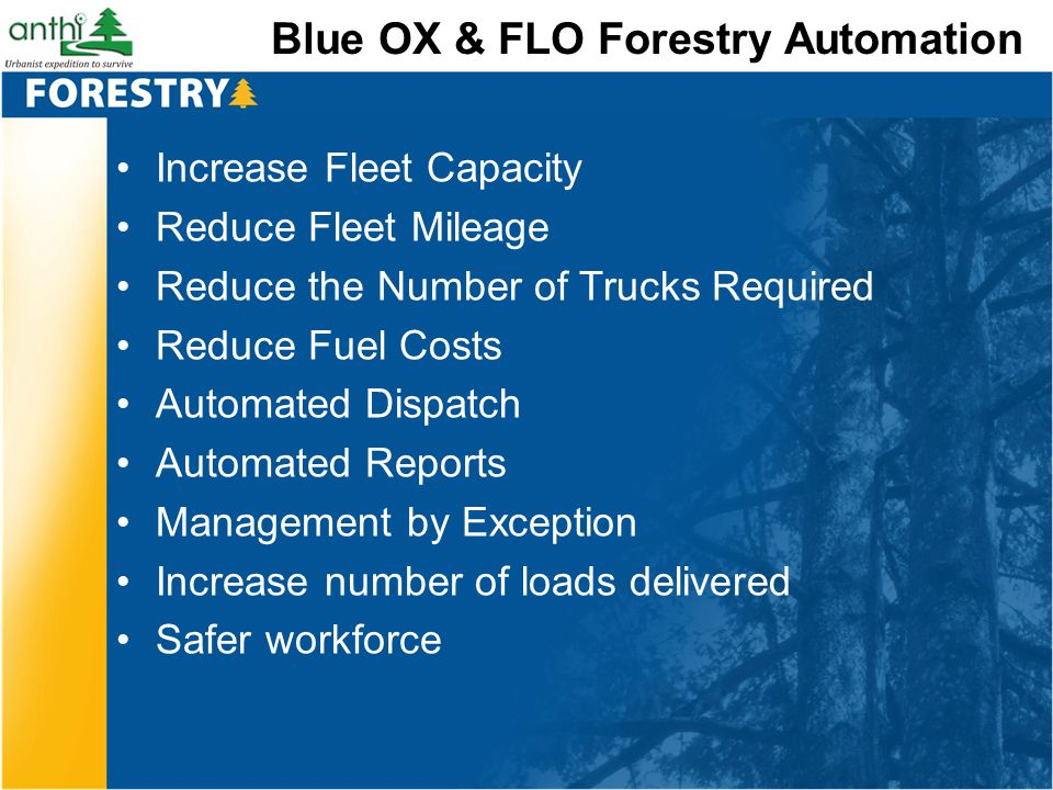 Blue OX & FLO Forestry Automation