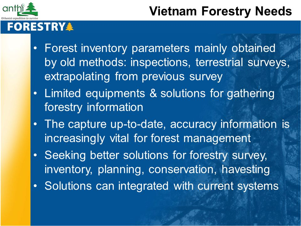 Vietnam Forestry Needs