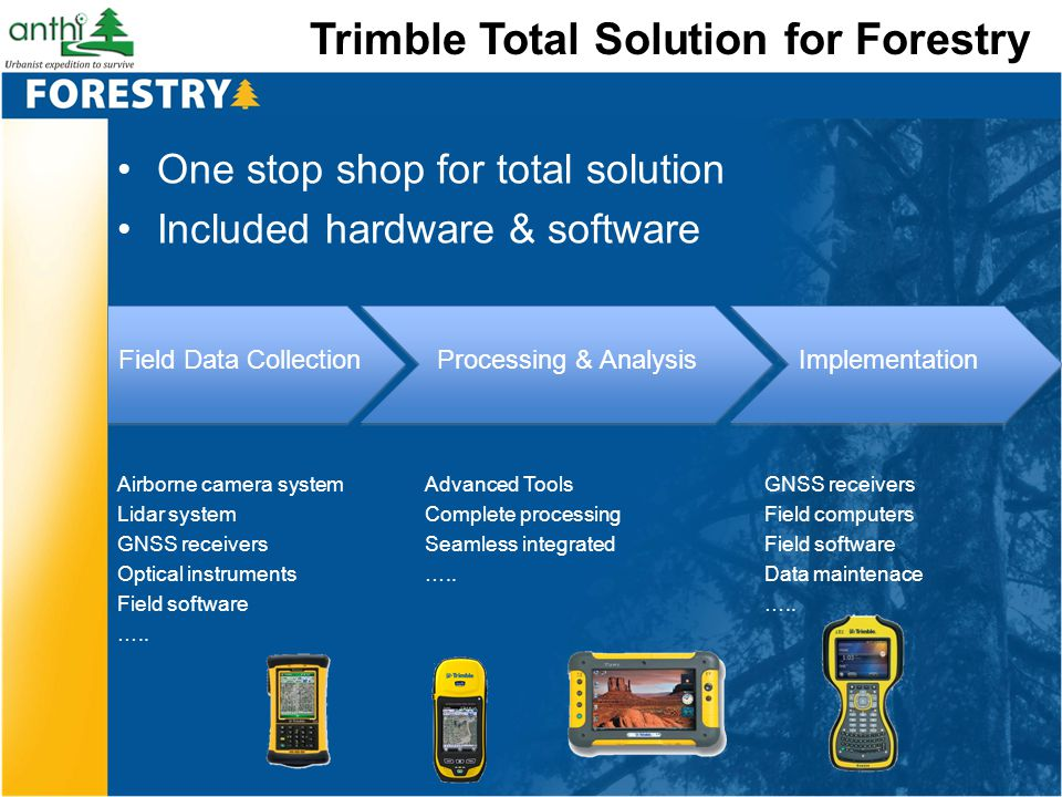 Trimble Total Solution for Forestry