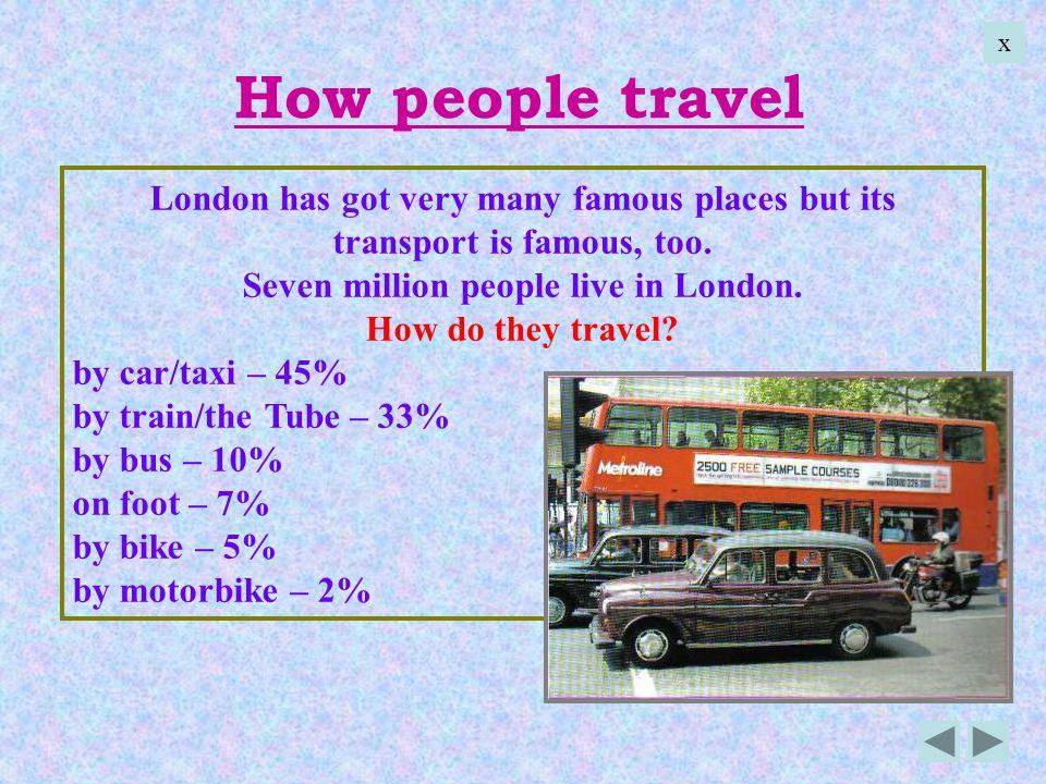 Seven million people live in London.
