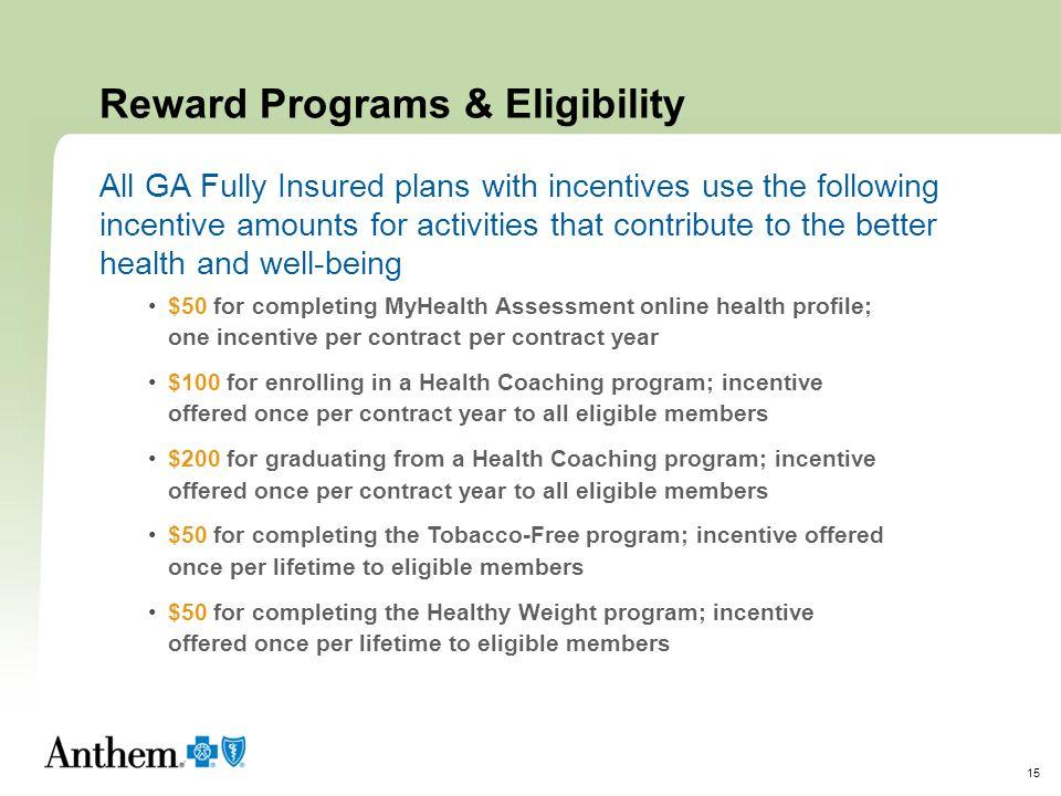 Reward Programs & Eligibility