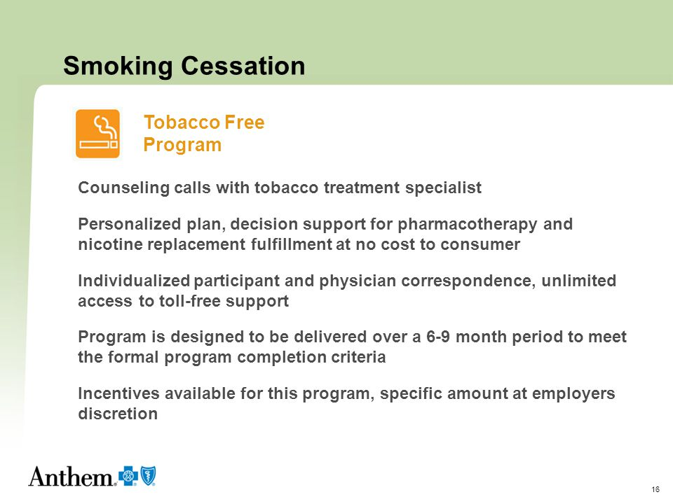 Smoking Cessation Tobacco Free Program