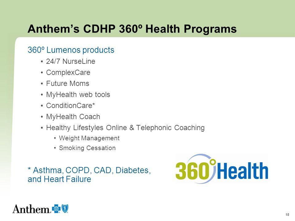 Anthem's CDHP 360º Health Programs