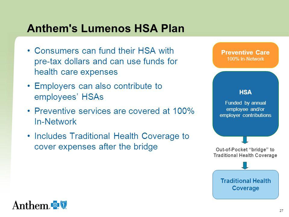 Anthem s Lumenos HSA Plan