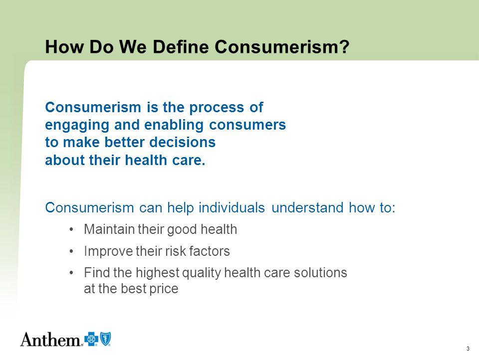 How Do We Define Consumerism