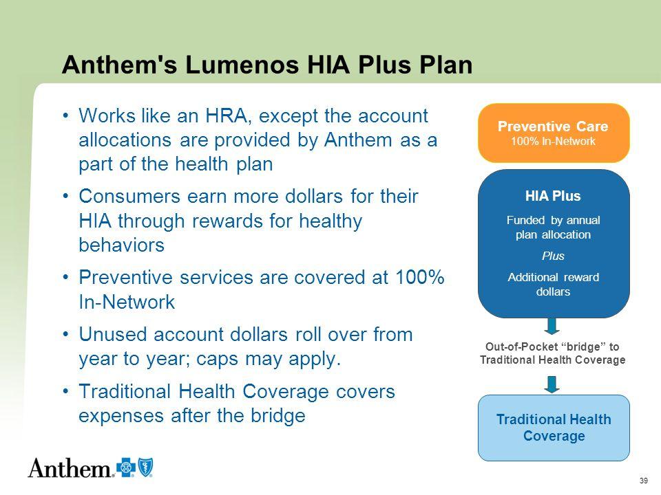 Anthem s Lumenos HIA Plus Plan